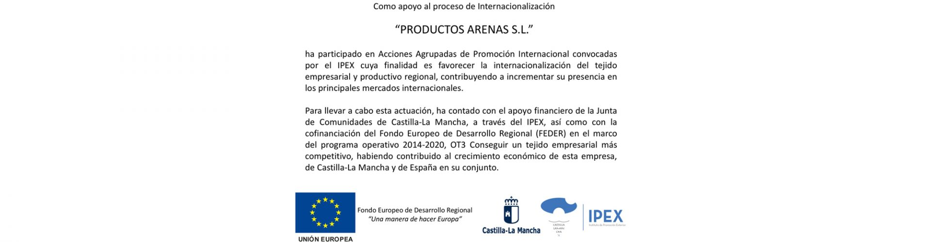 (Español) Apoyo al proceso de Internacionalización