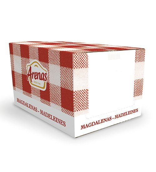 Filled Madeleines strawberry jam bulk box 100 units (4 bag of 25 units)